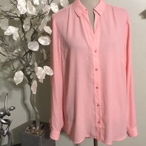 THE LIMITED PINK BUTTON DOWN BLOUSE